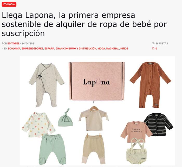 Lapona aparece en el diario de Iberopress