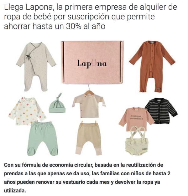 Lapona aparece en el diario de Economía de Hoy