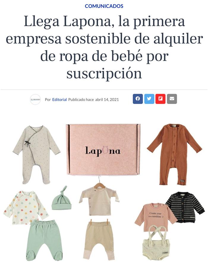 Lapona aparece en el diario de El Negocio