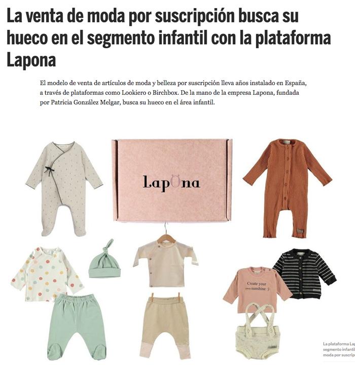 Lapona aparece en el diario de Fashion Network