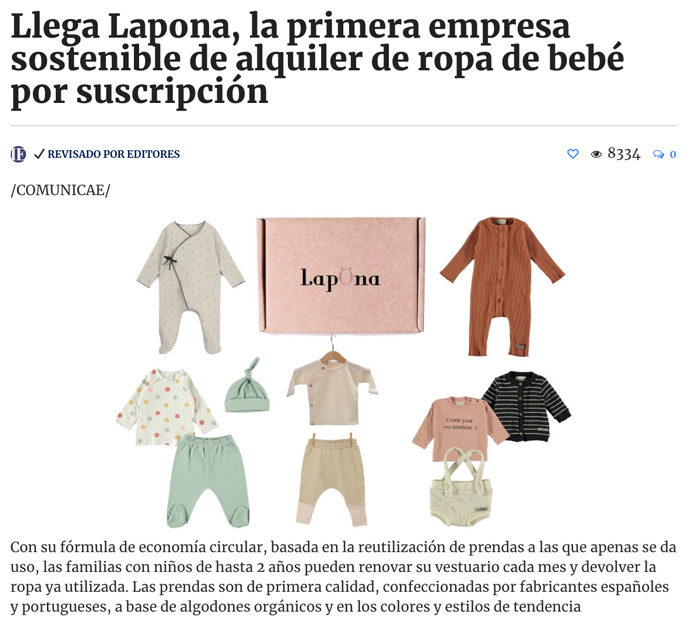 Lapona aparece en el diario de Iniciativa Empresarial