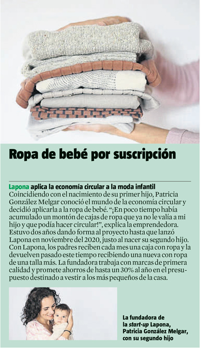 Lapona aparece en el periódico La Vanguardia