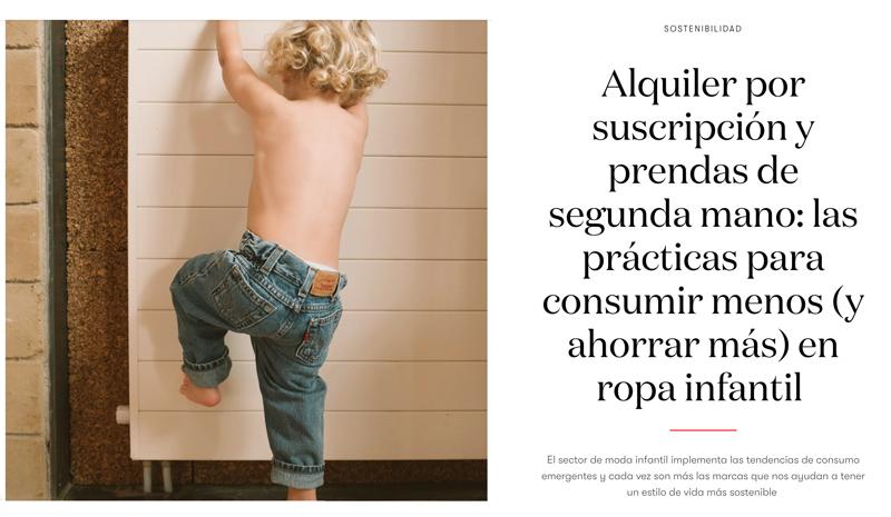 Nota de prensa de Vogue